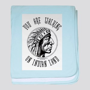 Walking on Indian Land Logo baby blanket