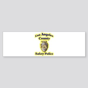 L A County Safety Police Sticker (Bumper)