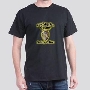 L A County Safety Police Dark T-Shirt