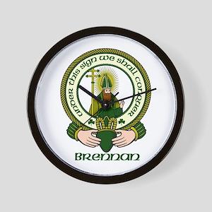 Brennan Clan Motto Wall Clock
