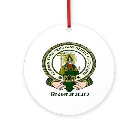 Brennan Clan Motto Ornament (Round)