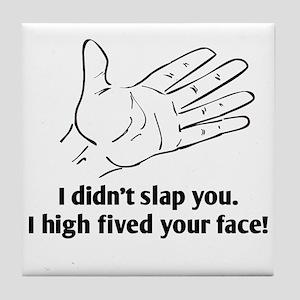 Funny Face Slap Tile Coaster