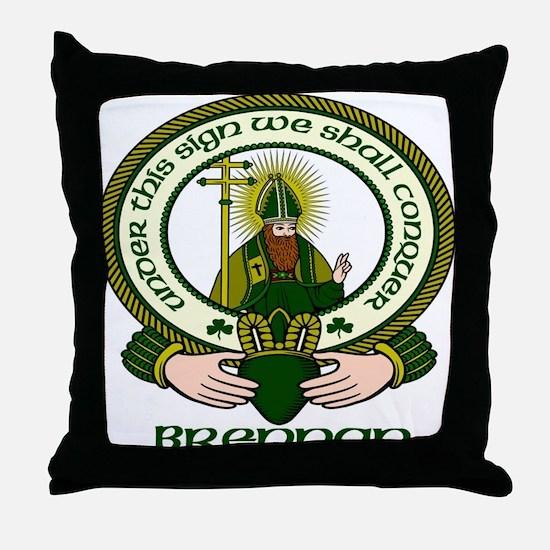 Brennan Clan Motto Throw Pillow