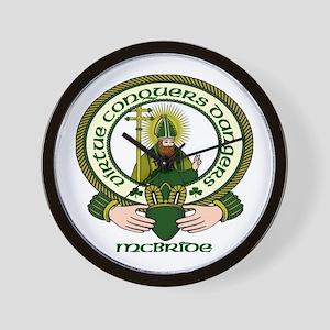 McBride Clan Motto Wall Clock