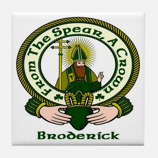 Broderick Clan Motto Tile Coaster