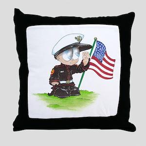 Oscar the Marine Throw Pillow
