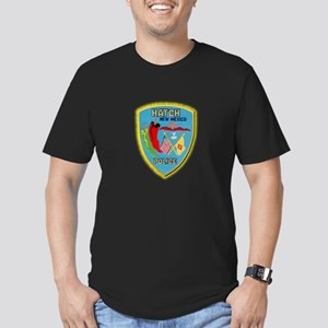 Hatch New Mexico Police Men's Fitted T-Shirt (dark