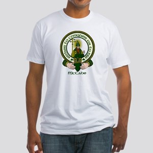 McCabe Clan Motto Fitted T-Shirt