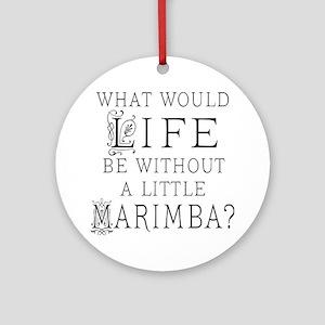 Marimba Quote Ornament (Round)