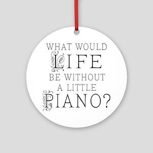 Piano Quote Ornament (Round)