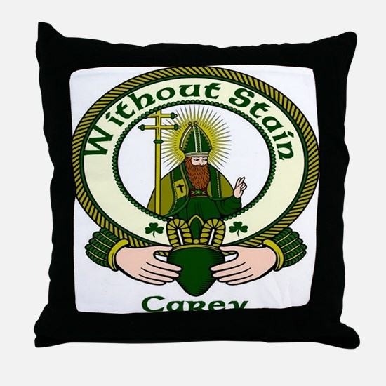 Carey Clan Motto Throw Pillow