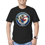 USS COTTEN Men's Fitted T-Shirt (dark)