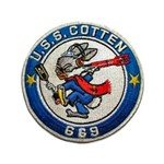 "USS COTTEN 3.5"" Button"