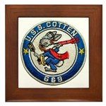 USS COTTEN Framed Tile