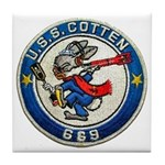USS COTTEN Tile Coaster