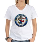 USS COTTEN Women's V-Neck T-Shirt