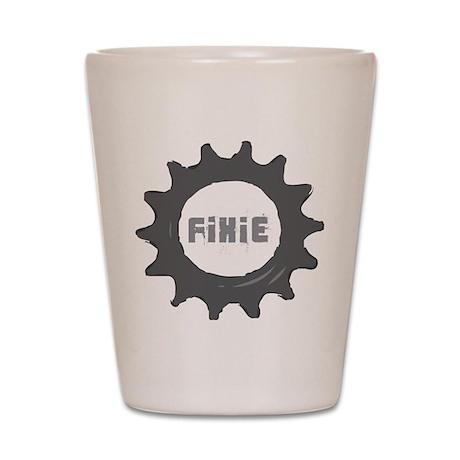 fixed gear cycling Shot Glass