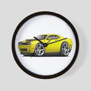 Hurst Challenger Yellow Car Wall Clock