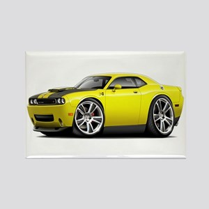 Hurst Challenger Yellow Car Rectangle Magnet
