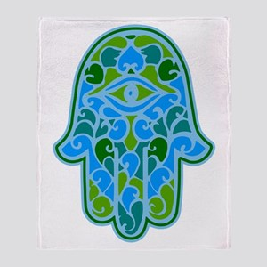 Artsy Hamsa Throw Blanket