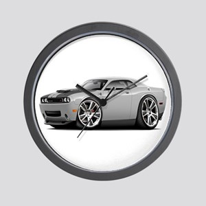 Hurst Challenger Silver Car Wall Clock
