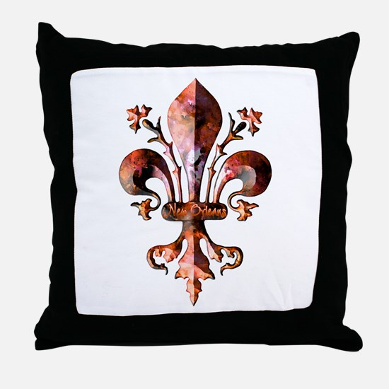 Colorful Antique New Orleans  Throw Pillow