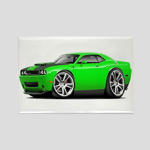 Hurst Challenger Lime Car Rectangle Magnet