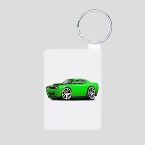 Hurst Challenger Lime Car Aluminum Photo Keychain