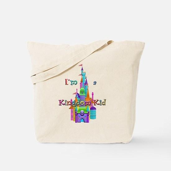 Kingdom Kid w/ Castle Image Tote Bag
