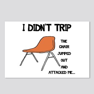 Funny Tripping Chair Postcards (Package of 8)