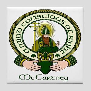 McCartney Clan Motto Tile Coaster