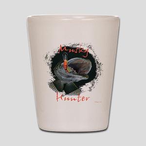 Musky hunter,3 Shot Glass