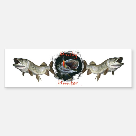 Musky Hunter Sticker (Bumper)