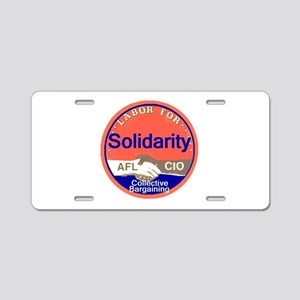 Solidarity Aluminum License Plate