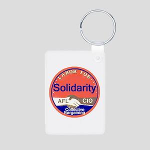 Solidarity Aluminum Photo Keychain