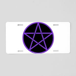 Purple/Black Pentagram Aluminum License Plate
