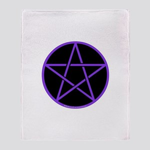 Purple/Black Pentagram Throw Blanket