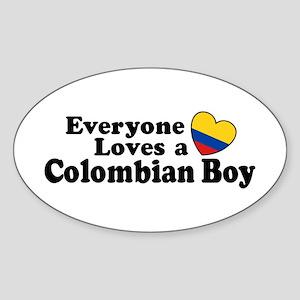 Everyone Loves a Colombian Boy Sticker (Oval)