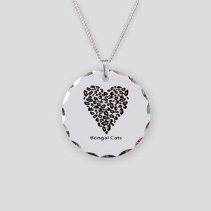 Bengal Cat Lover Necklace Circle Charm