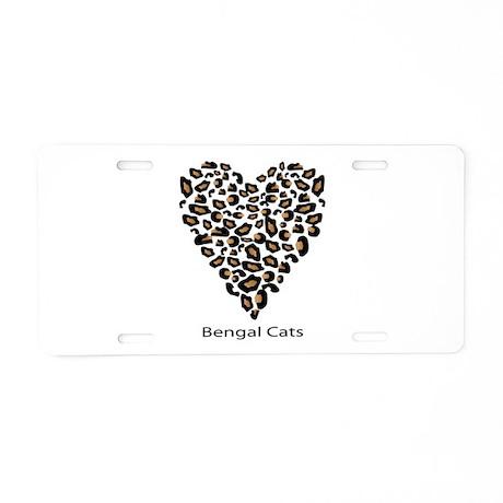 Bengal Cat Lover Aluminum License Plate
