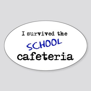 School Cafeteria Oval Sticker