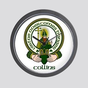 Collins Clan Motto Wall Clock