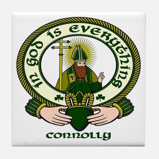 Connolly Clan Motto Tile Coaster