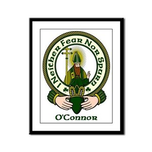 O'Connor Clan Motto Framed Panel Print