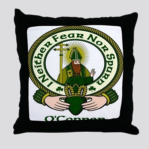 O'Connor Clan Motto Throw Pillow