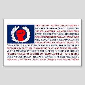 Crony Capitalism Sticker (Rectangle)