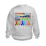 Ribbons For a Cause Kids Sweatshirt