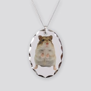 Russian Hamster Necklace Oval Charm