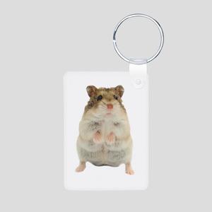 Russian Hamster Aluminum Photo Keychain