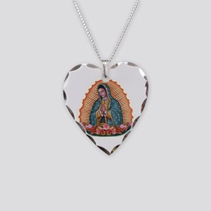 Lady of Guadalupe T2 Necklace Heart Charm